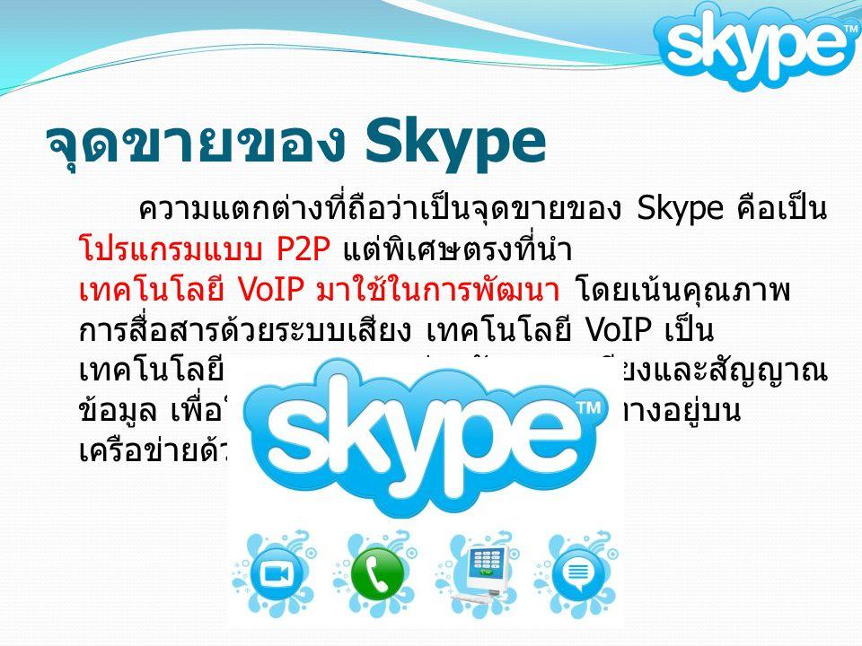จุดขายของ Skype