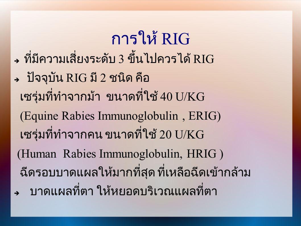การให้ RIG ที่มีความเสี่ยงระดับ 3 ขึ้นไปควรได้ RIG