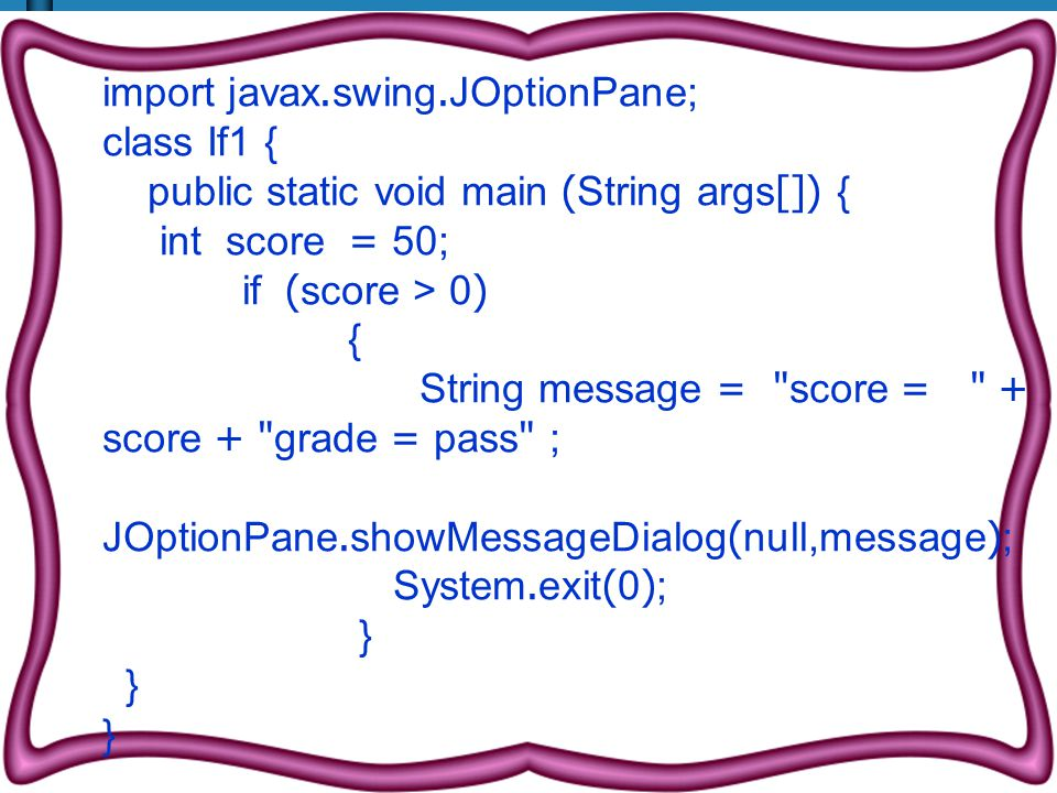 import javax.swing.JOptionPane;