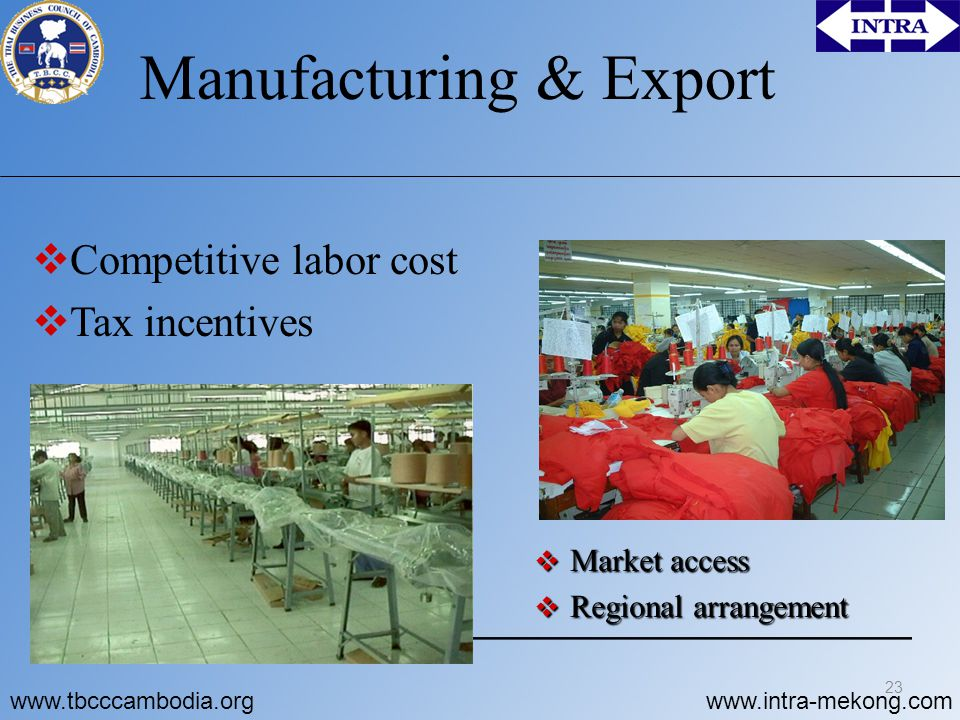 Manufacturing & Export