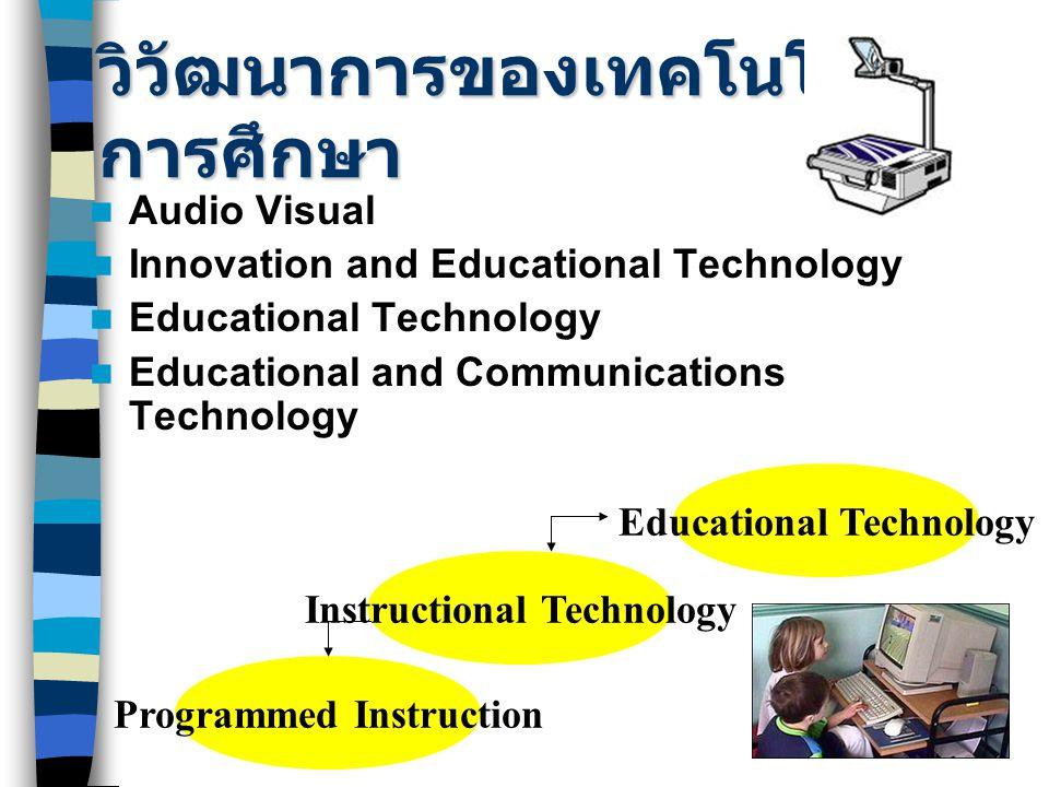 วิวัฒนาการของเทคโนโลยีการศึกษา