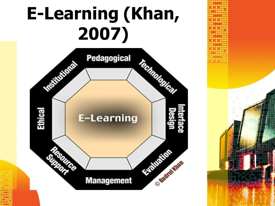 E-Learning (Khan, 2007)