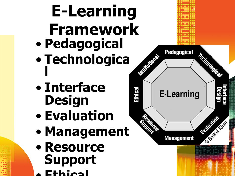 E-Learning Framework Pedagogical Technological Interface Design