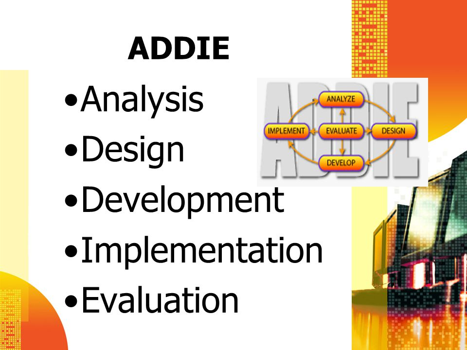 ADDIE Analysis Design Development Implementation Evaluation