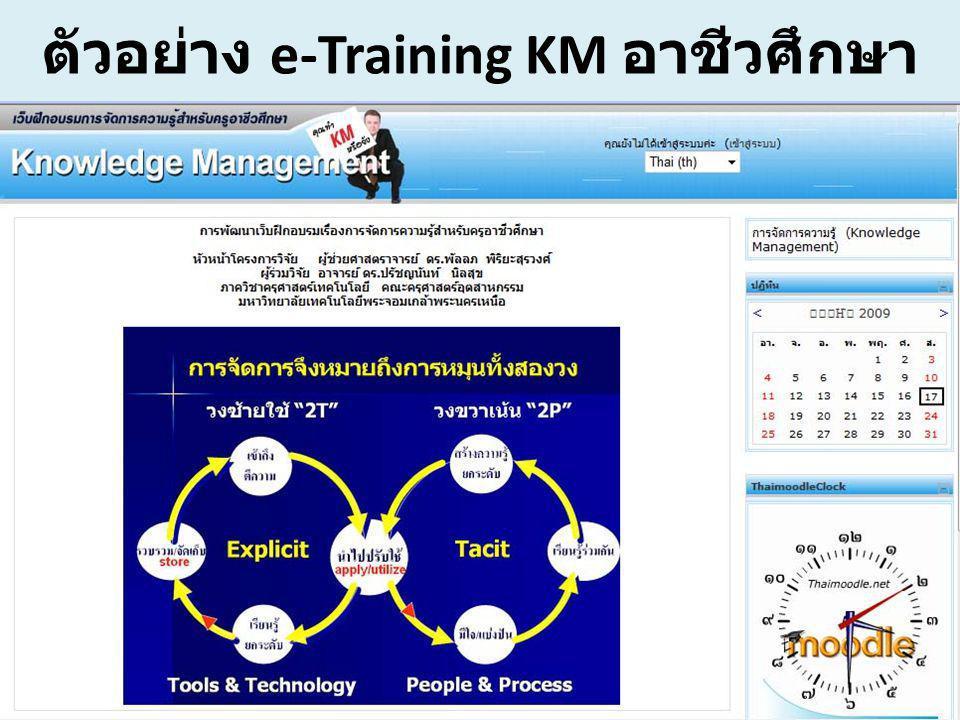 ตัวอย่าง e-Training KM อาชีวศึกษา
