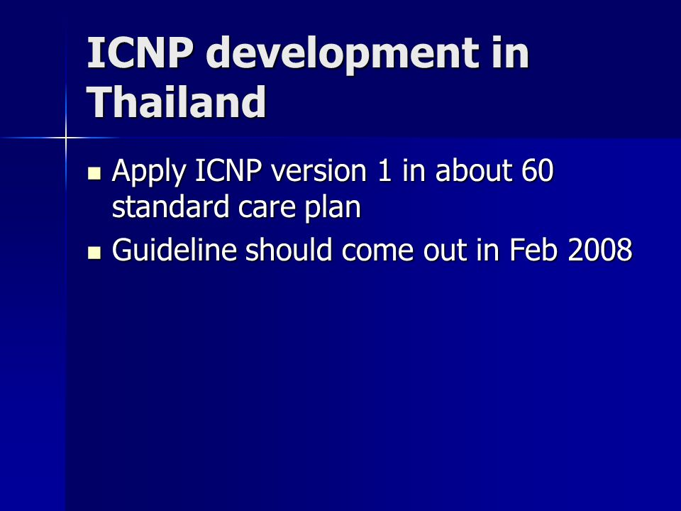 ICNP development in Thailand