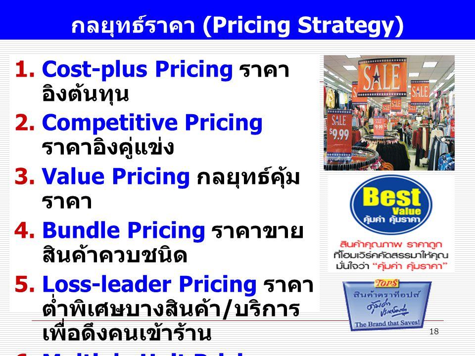 กลยุทธ์ราคา (Pricing Strategy)