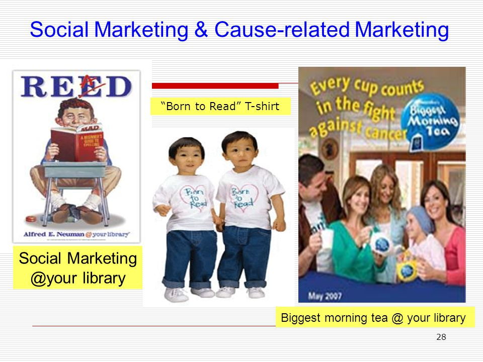 Social Marketing & Cause-related Marketing