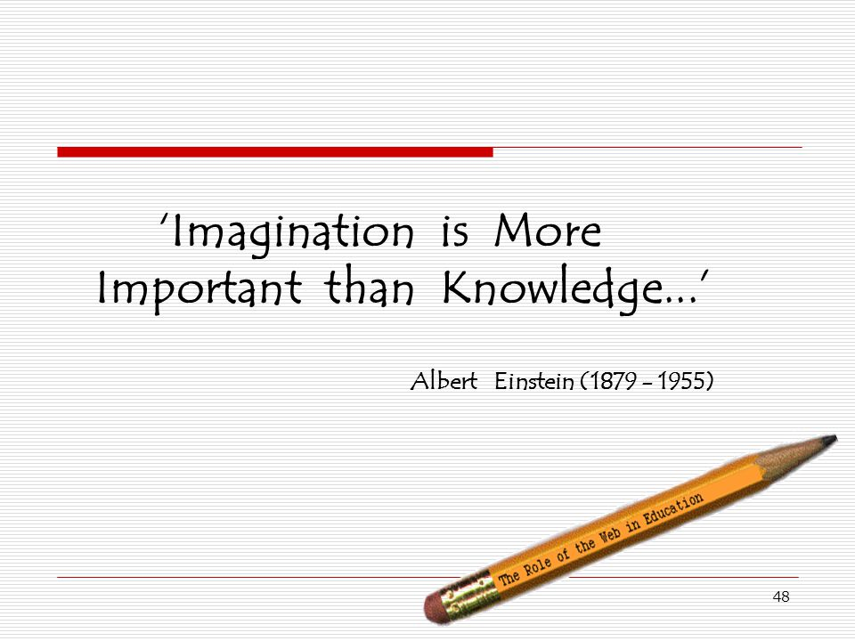 'Imagination is More Important than Knowledge...'