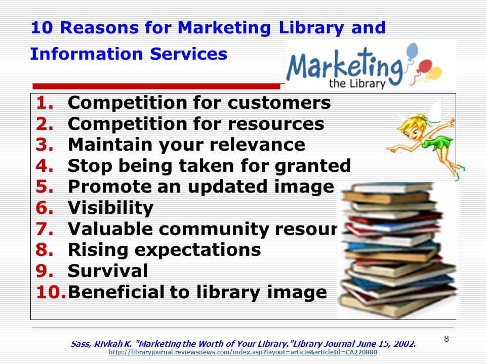 10 Reasons for Marketing Library and Information Services