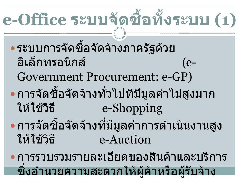 e-Office ระบบจัดซื้อทั้งระบบ (1)