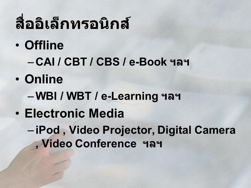 สื่ออิเล็กทรอนิกส์ Offline Online Electronic Media