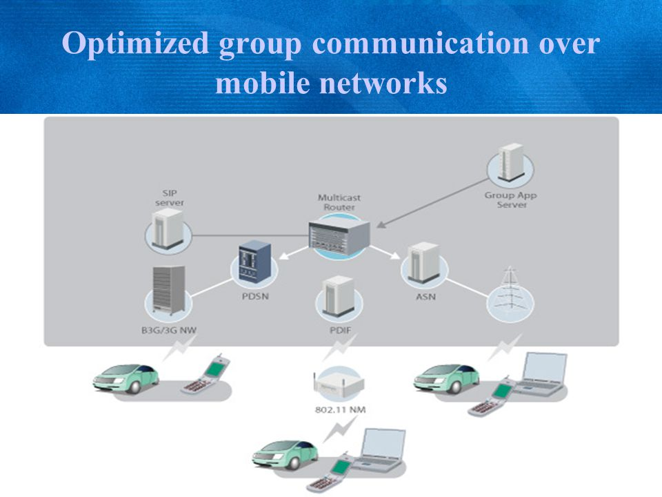 Optimized group communication over mobile networks
