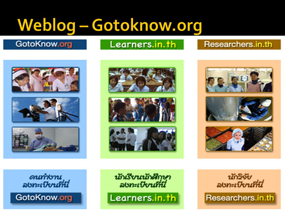 Weblog – Gotoknow.org