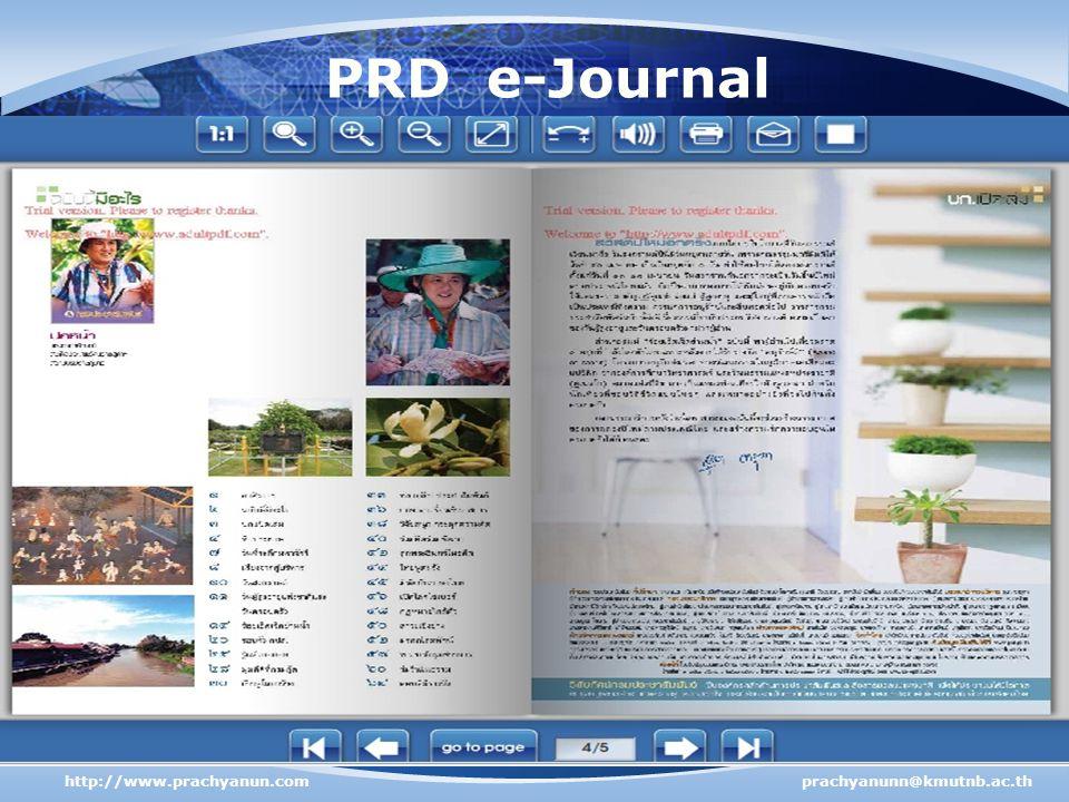 PRD e-Journal http://www.prachyanun.com prachyanunn@kmutnb.ac.th