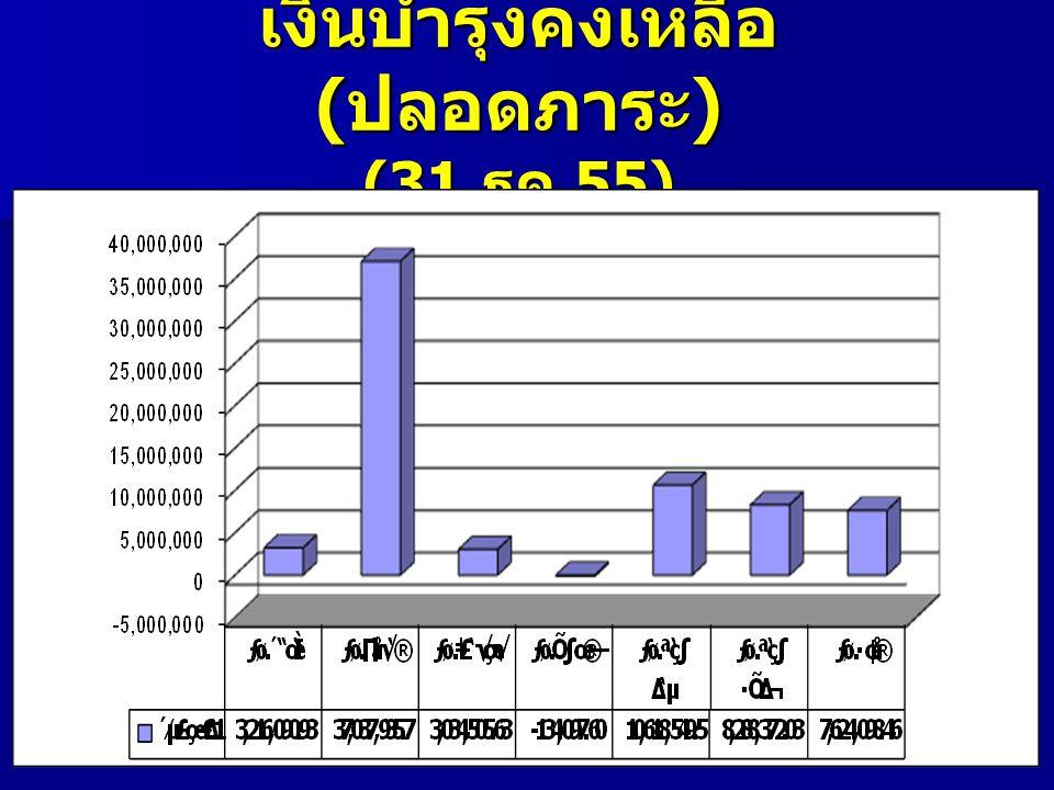 เงินบำรุงคงเหลือ (ปลอดภาระ) (31 ธค.55)