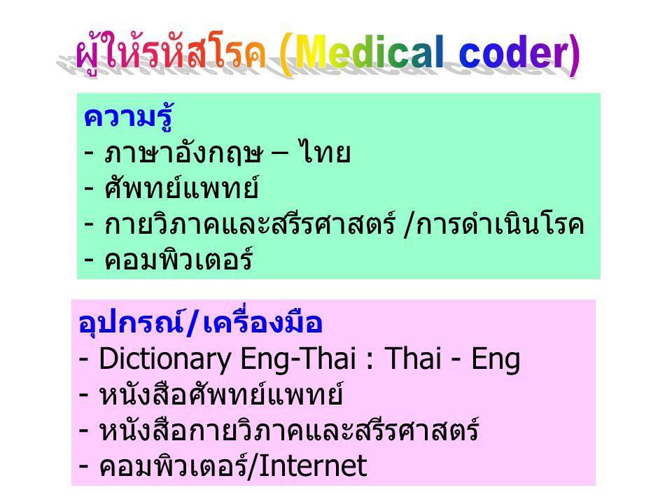 ผู้ให้รหัสโรค (Medical coder)