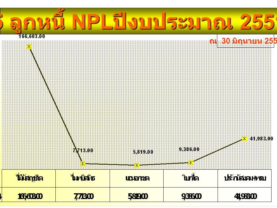 5 ลูกหนี้ NPLปีงบประมาณ 2551