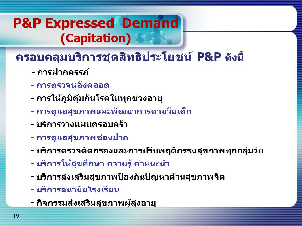 P&P Expressed Demand (Capitation)