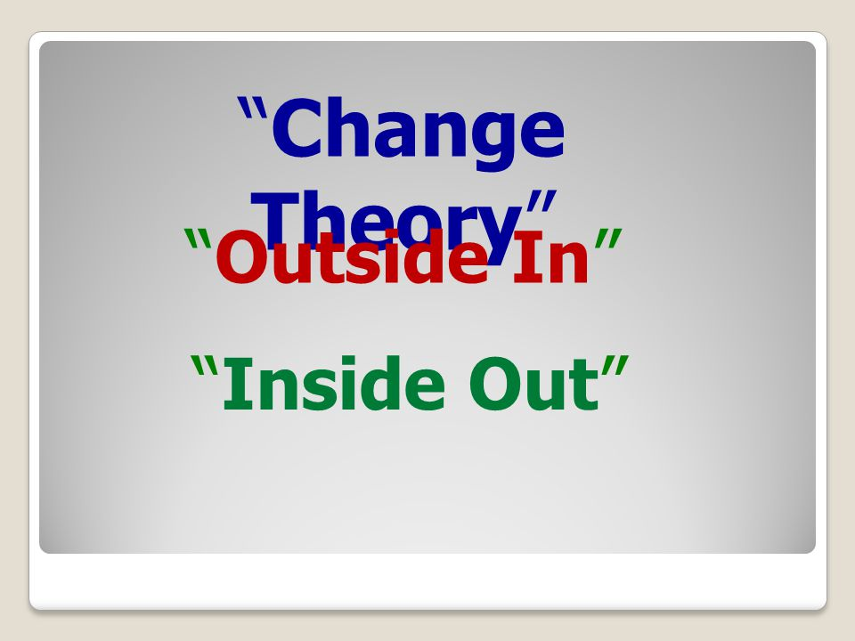 Change Theory Outside In Inside Out