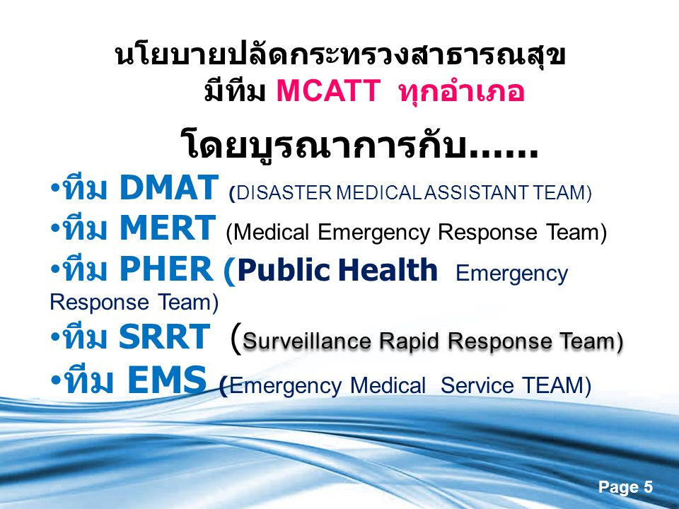 ทีม EMS (Emergency Medical Service TEAM)