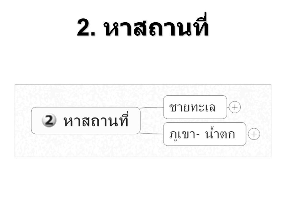 2. หาสถานที่