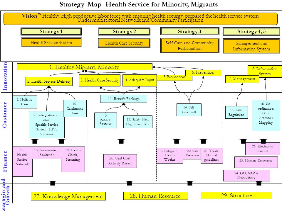 Strategy Map Health Service for Minority, Migrants