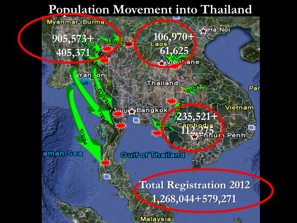 Population Movement into Thailand
