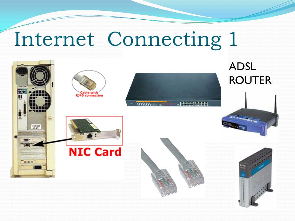 Internet Connecting 1 ADSL ROUTER
