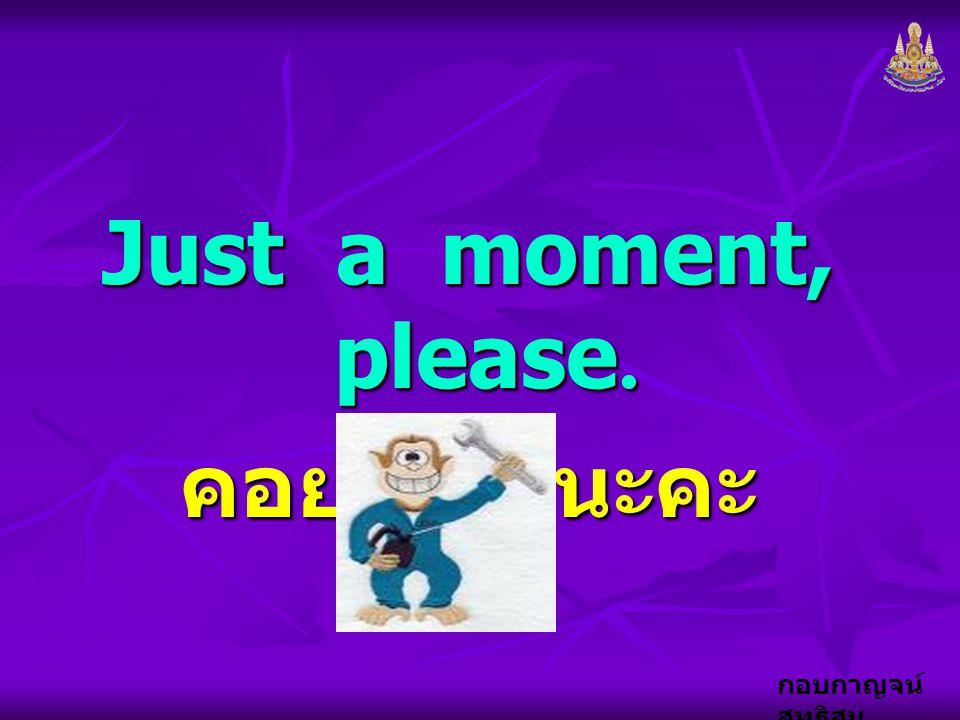 Just a moment, please. คอยเดี๋ยวนะคะ