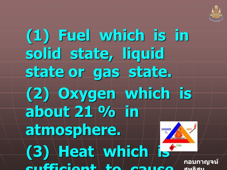 (1) Fuel which is in solid state, liquid state or gas state.