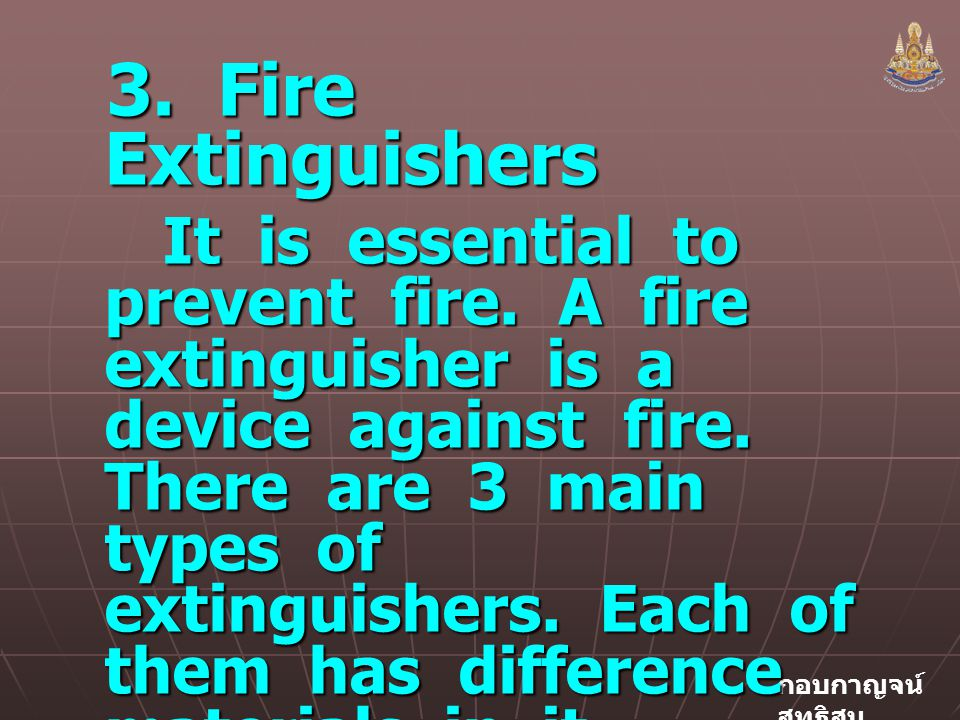 3. Fire Extinguishers