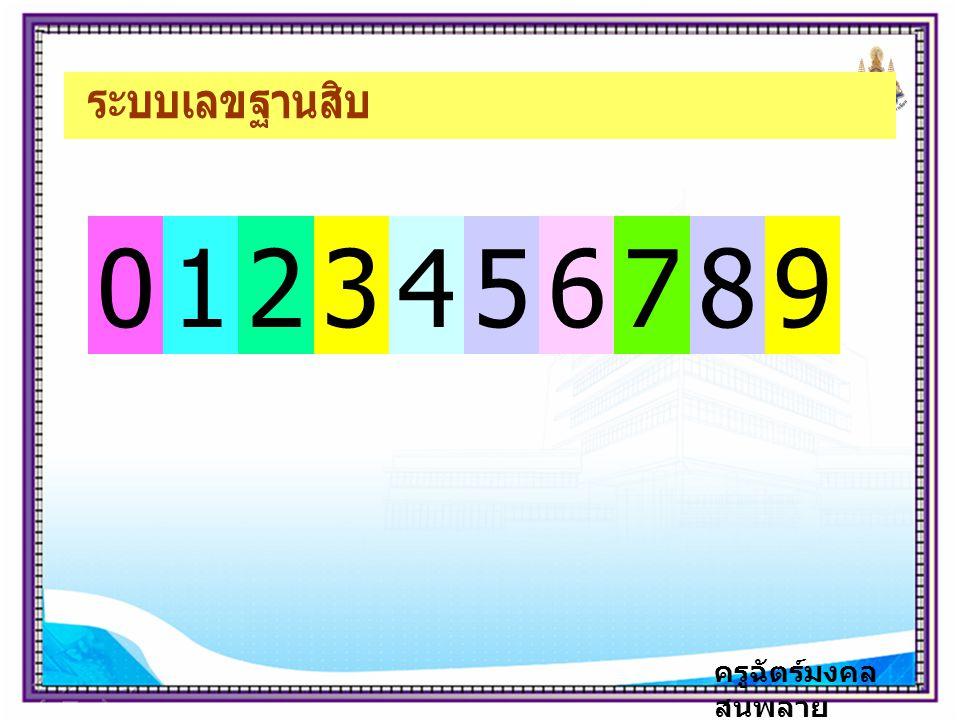 ระบบเลขฐานสิบ 1 2 3 4 5 6 7 8 9