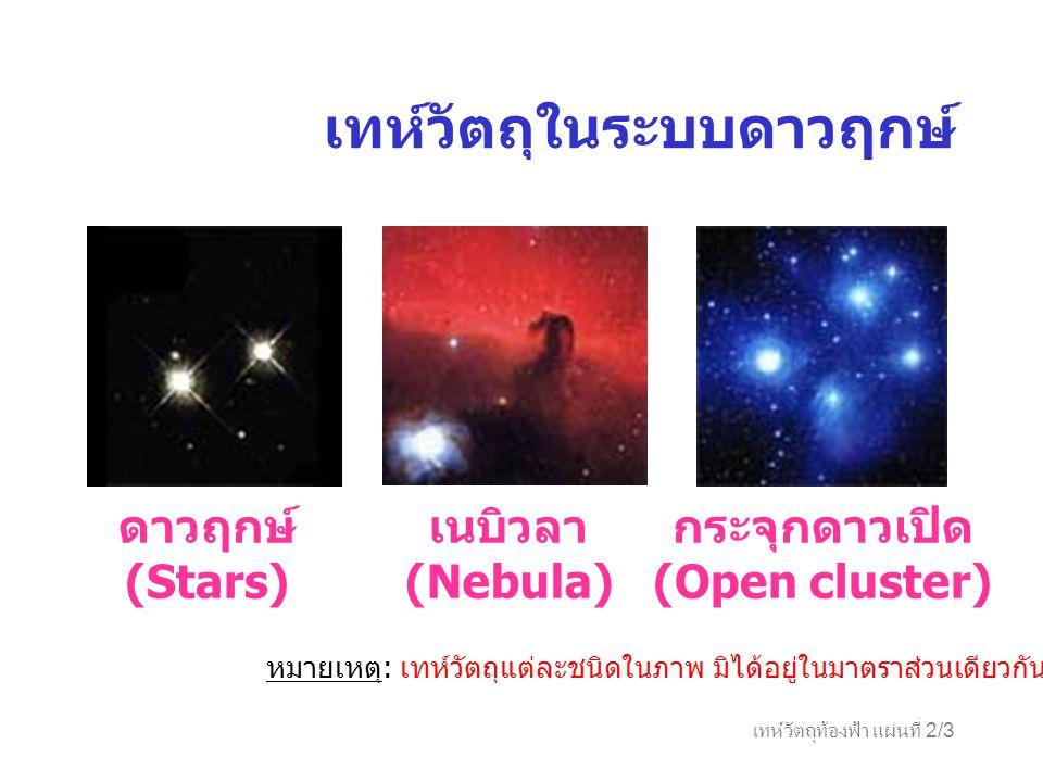กระจุกดาวเปิด (Open cluster)