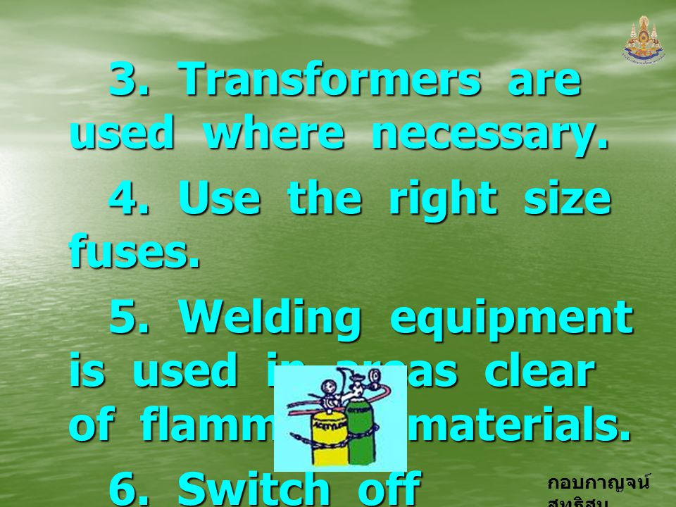 3. Transformers are used where necessary.
