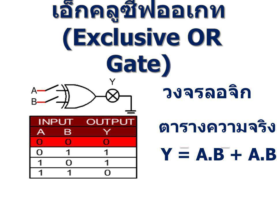 เอ็กคลูซีฟออเกท (Exclusive OR Gate)