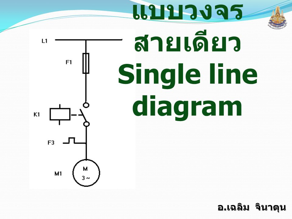 แบบวงจรสายเดียว Single line diagram