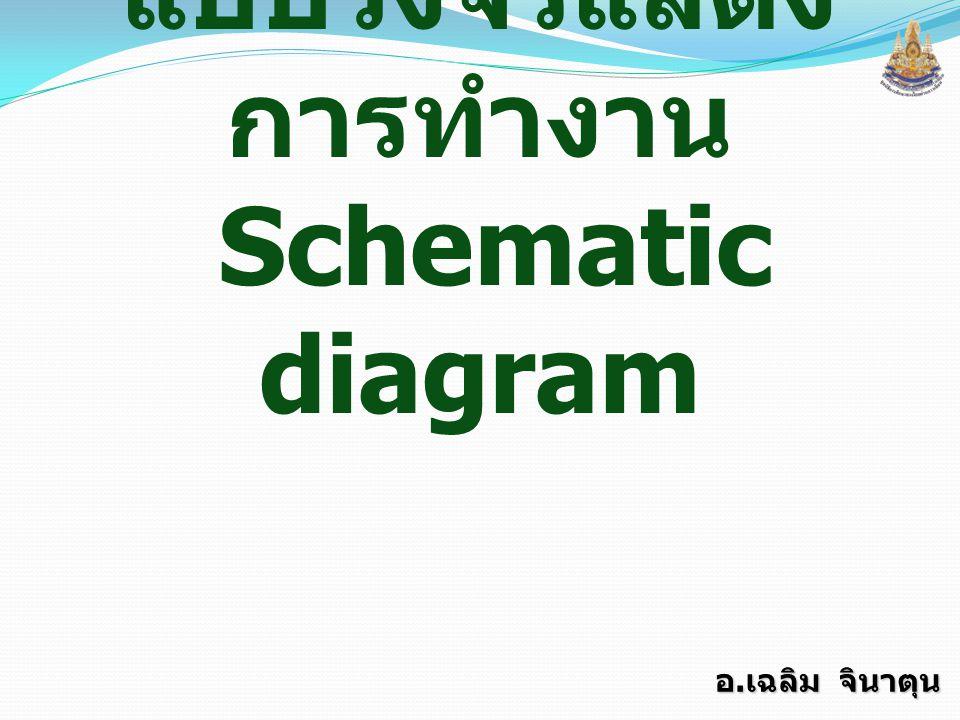แบบวงจรแสดงการทำงาน Schematic diagram