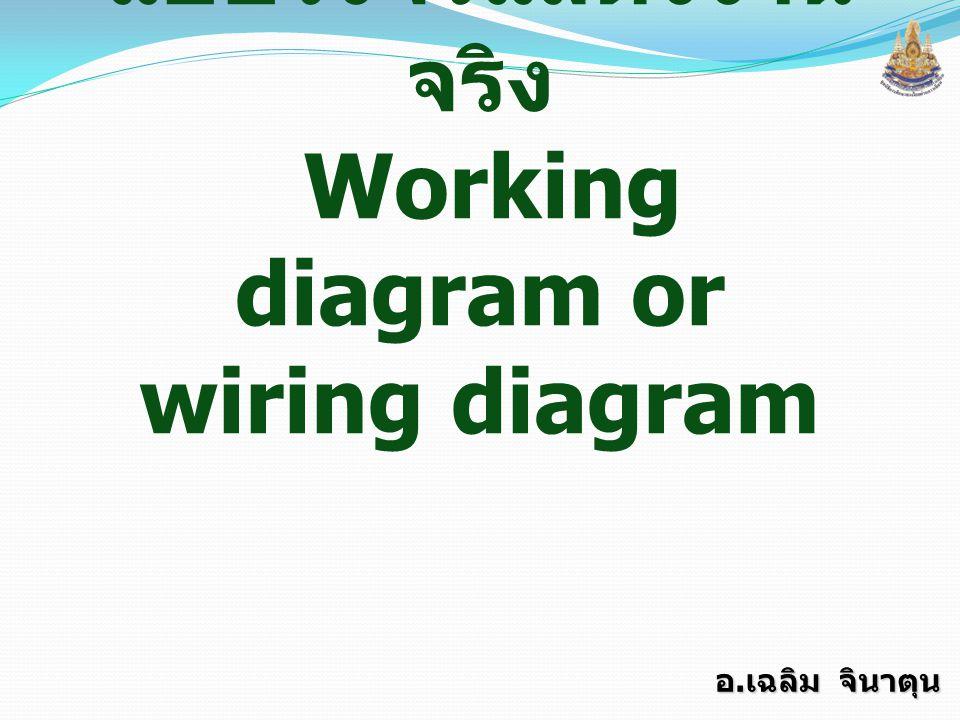 แบบวงจรแสดงงานจริง Working diagram or wiring diagram