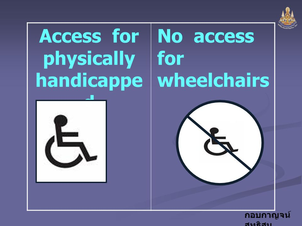 Access for physically handicapped
