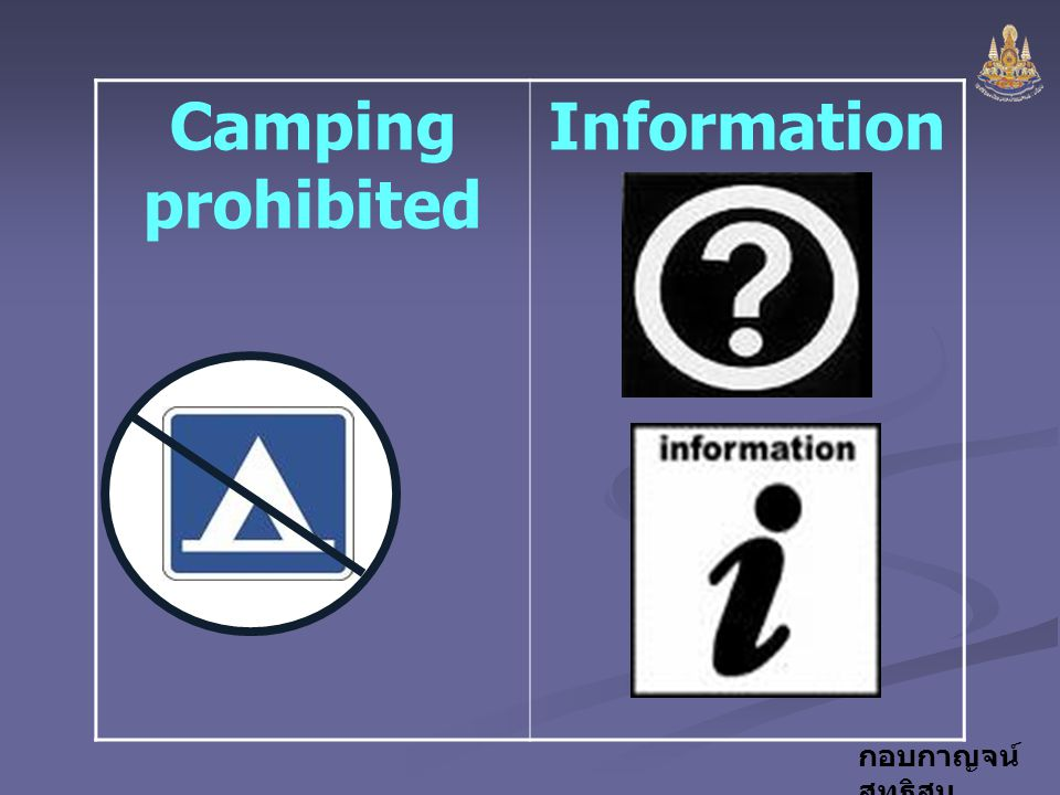 Camping prohibited Information