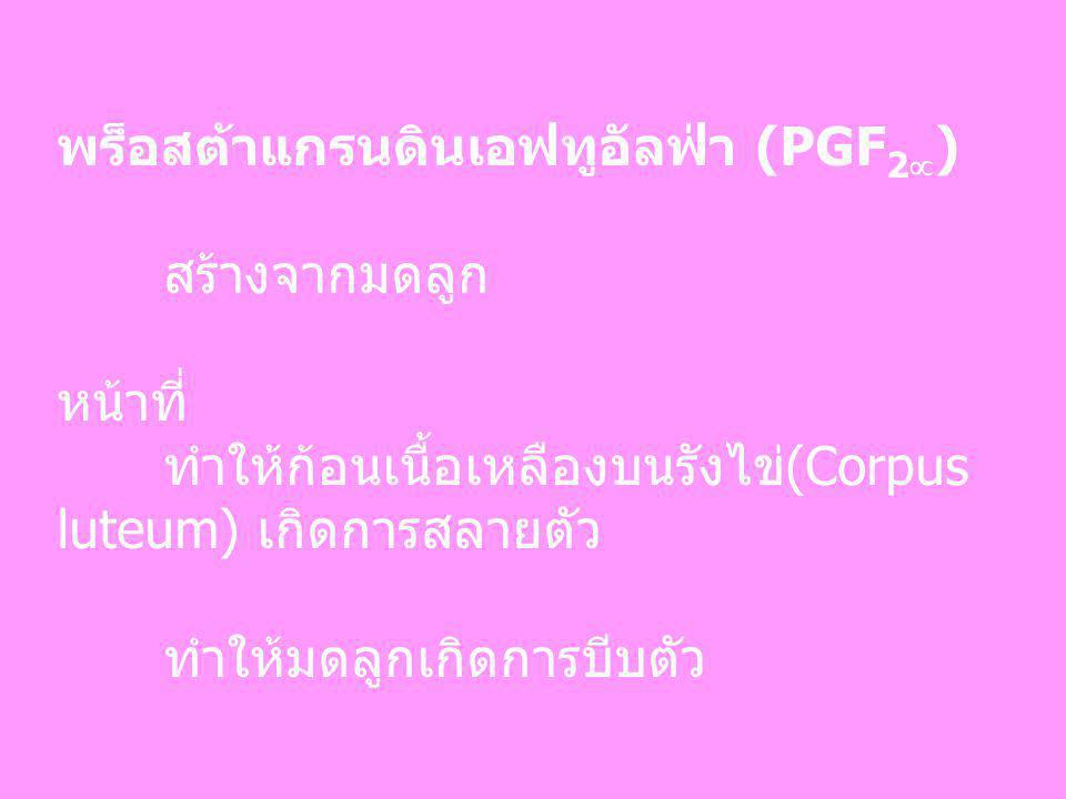 พร็อสต้าแกรนดินเอฟทูอัลฟ่า (PGF2)