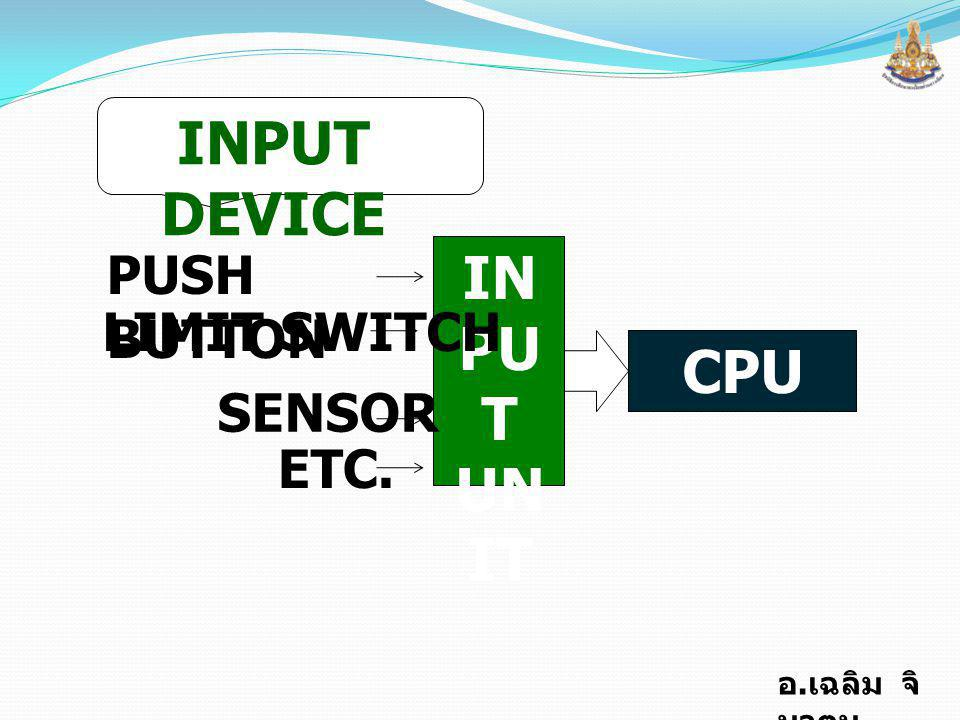 INPUT DEVICE IN PUT UNIT CPU