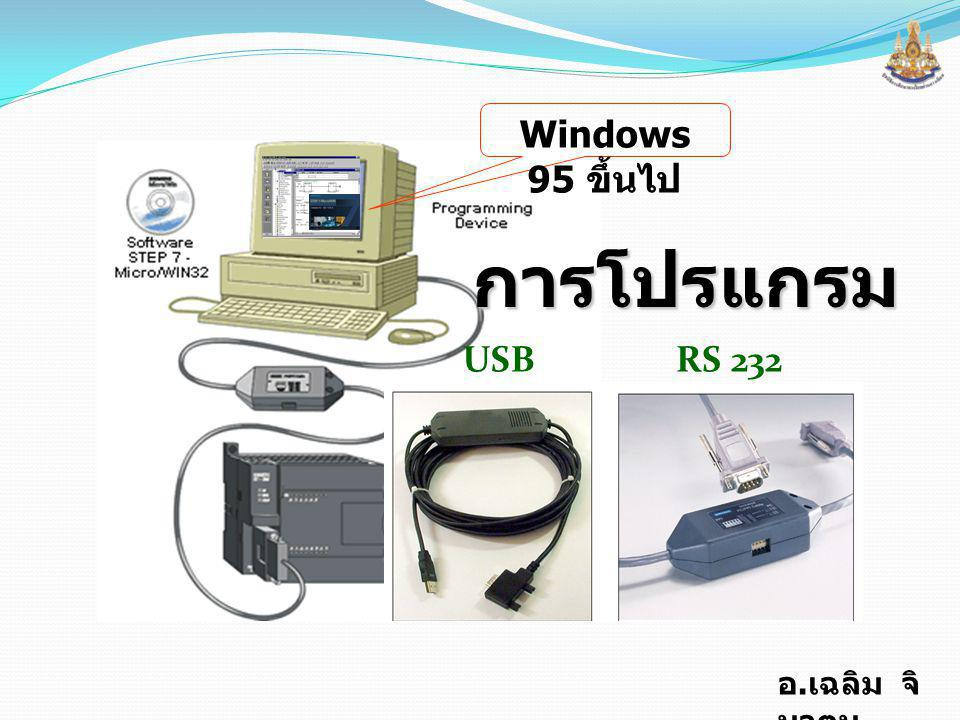 Windows 95 ขึ้นไป การโปรแกรม USB RS 232