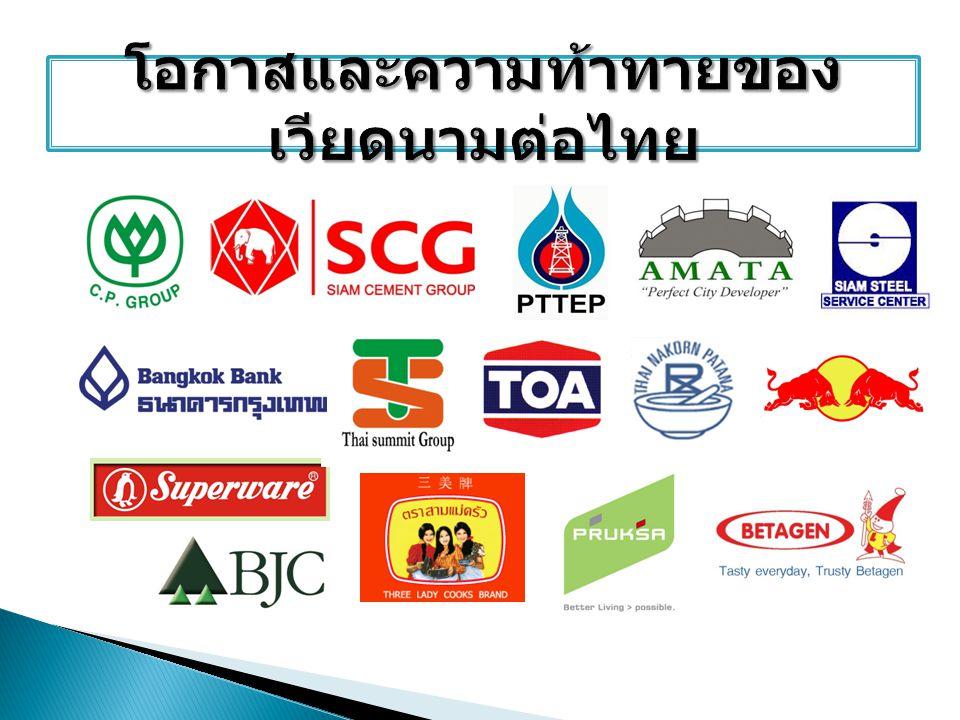 โอกาสและความท้าทายของเวียดนามต่อไทย