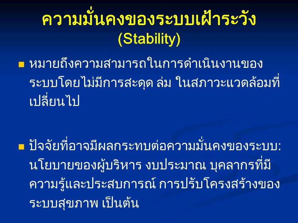 ความมั่นคงของระบบเฝ้าระวัง (Stability)