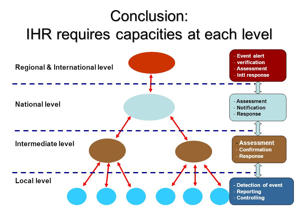 Conclusion: IHR requires capacities at each level