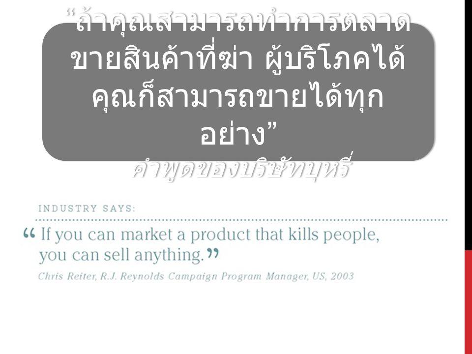 คำพูดของบริษัทบุหรี่