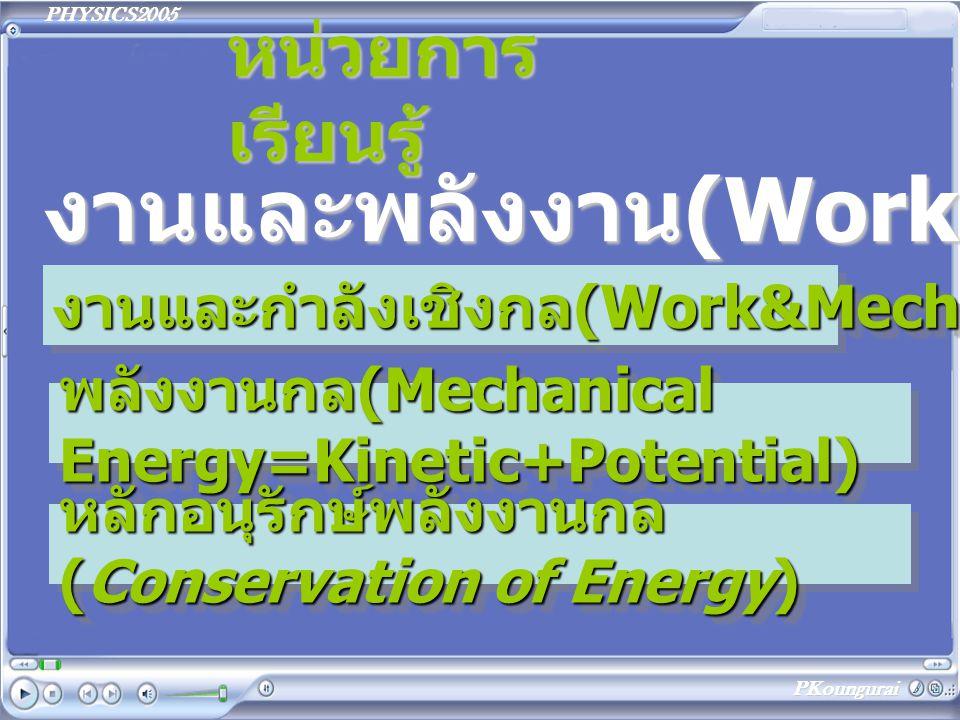 งานและพลังงาน(Work&Energy)