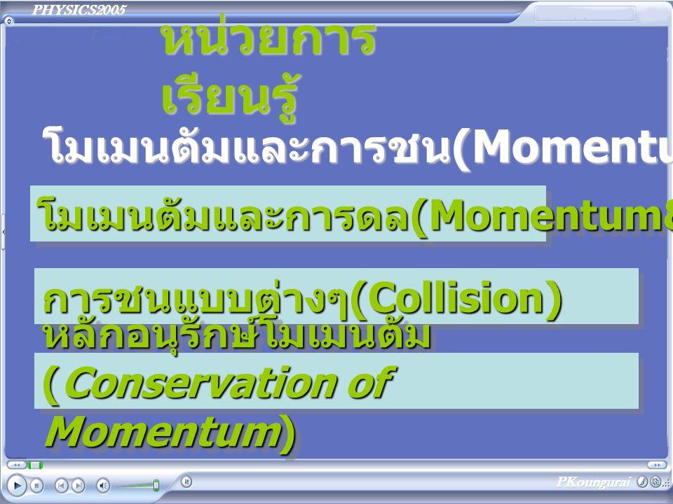 หน่วยการเรียนรู้ โมเมนตัมและการชน(Momentum&Collisions)